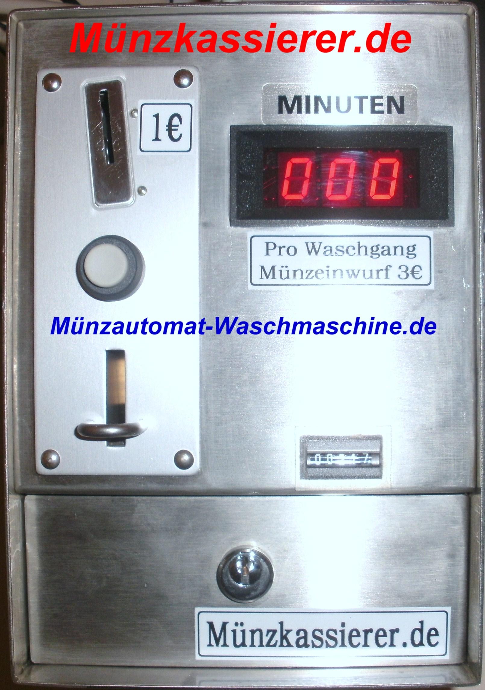 Münzautomat Waschmaschine für Kurzunterkunft Hotel Monteurzimmer Zimmer Pension Handwerkerzimmer Monteur-Pension