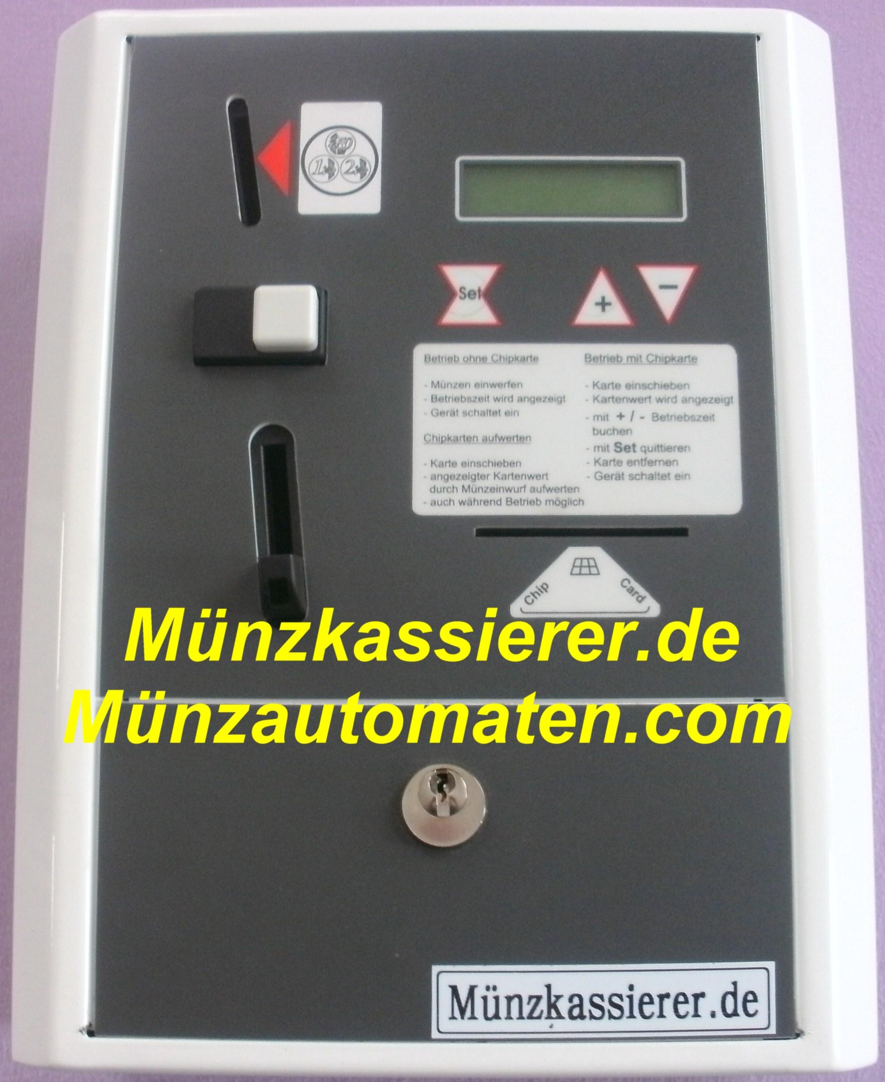 Münzautomaten für Kurzunterkunft Hotel Monteurzimmer Zimmer Pension Handwerkerzimmer Monteur-Pension